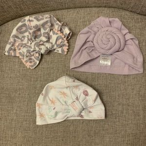 💗Baby turbans lot💗 set of 3 size 0-6 months